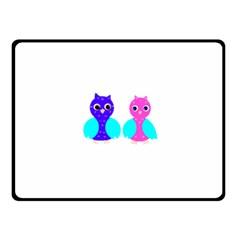 Owl Couple  Fleece Blanket (small)