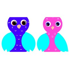 Owl Couple  You Are Invited 3d Greeting Card (8x4)