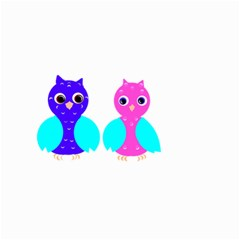 Owl couple  Small Garden Flag (Two Sides)