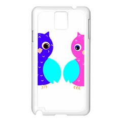 Owl couple  Samsung Galaxy Note 3 N9005 Case (White)