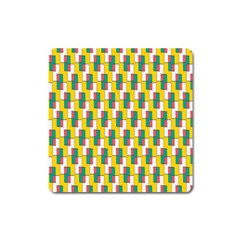 Connected rectangles pattern Magnet (Square)