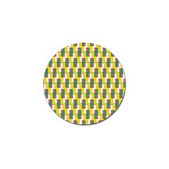 Connected rectangles pattern Golf Ball Marker (4 pack)
