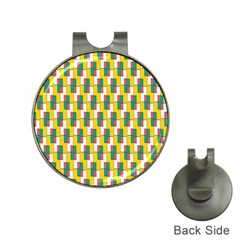Connected rectangles pattern Golf Ball Marker Hat Clip