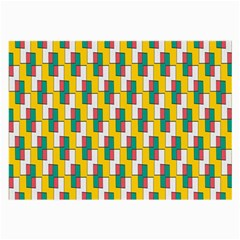 Connected rectangles pattern Large Glasses Cloth
