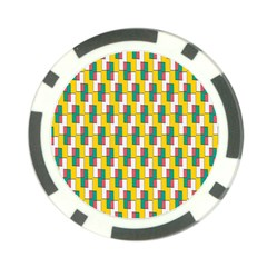 Connected rectangles pattern Poker Chip Card Guard (10 pack)