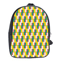 Connected rectangles pattern School Bag (Large)