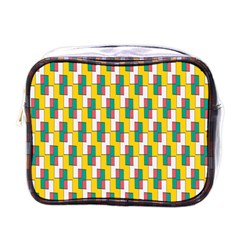 Connected rectangles pattern Mini Toiletries Bag (One Side)