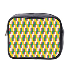 Connected rectangles pattern Mini Toiletries Bag (Two Sides)