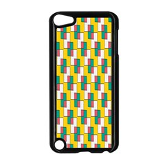 Connected rectangles pattern Apple iPod Touch 5 Case (Black)