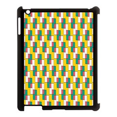 Connected rectangles pattern Apple iPad 3/4 Case (Black)
