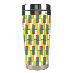 Connected rectangles pattern Stainless Steel Travel Tumbler