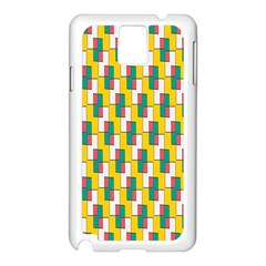 Connected rectangles pattern Samsung Galaxy Note 3 N9005 Case (White)