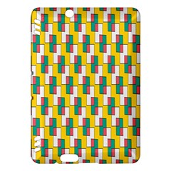 Connected rectangles pattern Kindle Fire HDX Hardshell Case