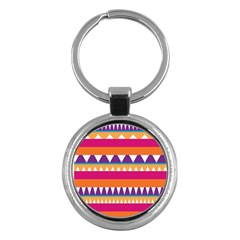 Stripes and peaks Key Chain (Round)
