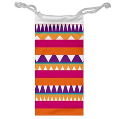 Stripes and peaks Jewelry Bag