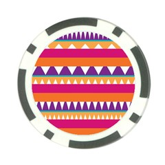 Stripes and peaks Poker Chip Card Guard