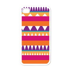 Stripes and peaks Apple iPhone 4 Case (White)