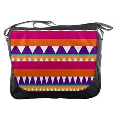 Stripes and peaks Messenger Bag