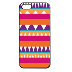 Stripes and peaks Apple iPhone 5 Seamless Case (Black)