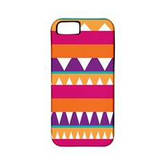 Stripes and peaks Apple iPhone 5 Classic Hardshell Case (PC+Silicone)