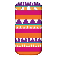 Stripes and peaks Samsung Galaxy S3 S III Classic Hardshell Back Case