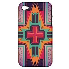 Tribal star Apple iPhone 4/4S Hardshell Case (PC+Silicone)