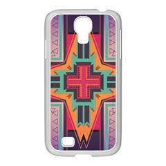 Tribal star Samsung GALAXY S4 I9500/ I9505 Case (White)