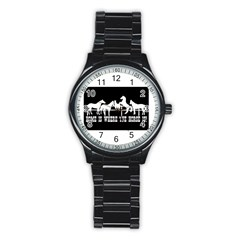 Home Is Where The Horse Is Stainless Steel Round Watches