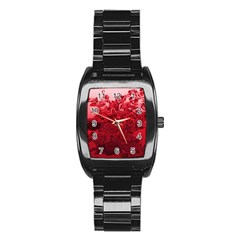 Red Tinted Roses Collage 2 Stainless Steel Barrel Watch