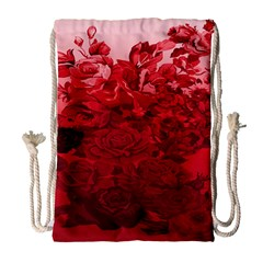 Red Tinted Roses Collage 2 Drawstring Bag (large)