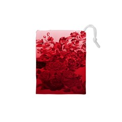 Red Tinted Roses Collage 2 Drawstring Pouches (XS)