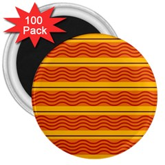 Red waves 3  Magnet (100 pack)