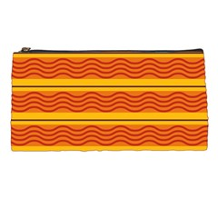 Red waves Pencil Case