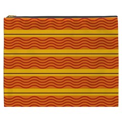 Red waves Cosmetic Bag (XXXL)