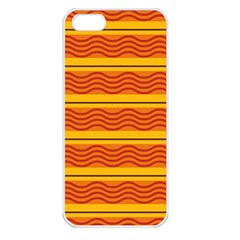 Red waves Apple iPhone 5 Seamless Case (White)