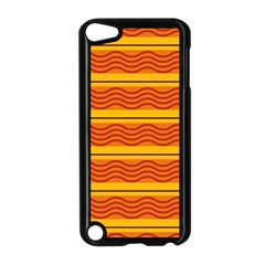 Red waves Apple iPod Touch 5 Case (Black)