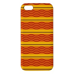 Red waves iPhone 5S Premium Hardshell Case