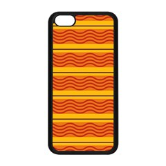 Red waves Apple iPhone 5C Seamless Case (Black)
