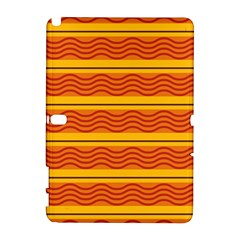 Red waves Samsung Galaxy Note 10.1 (P600) Hardshell Case