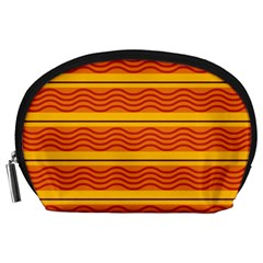 Red waves Accessory Pouch