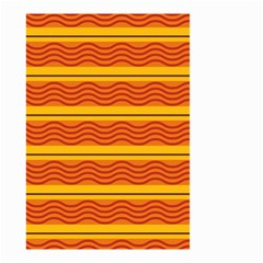 Red waves Small Garden Flag