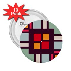 Squares and stripes  2.25  Button (10 pack)