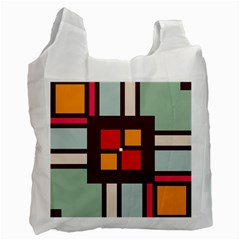 Squares and stripes  Recycle Bag (One Side)