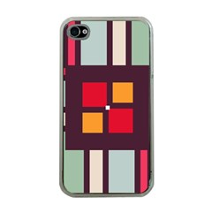 Squares and stripes  Apple iPhone 4 Case (Clear)