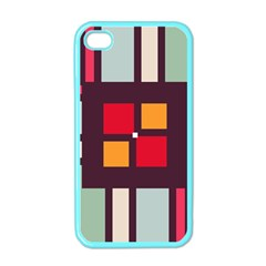 Squares and stripes  Apple iPhone 4 Case (Color)