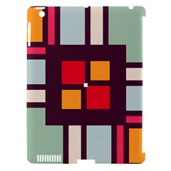 Squares and stripes  Apple iPad 3/4 Hardshell Case (Compatible with Smart Cover)