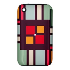 Squares and stripes  Apple iPhone 3G/3GS Hardshell Case (PC+Silicone)