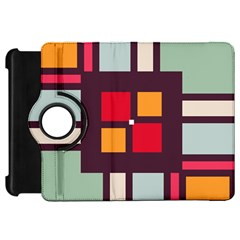 Squares and stripes  Kindle Fire HD Flip 360 Case