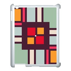 Squares and stripes  Apple iPad 3/4 Case (White)