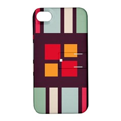 Squares and stripes  Apple iPhone 4/4S Hardshell Case with Stand